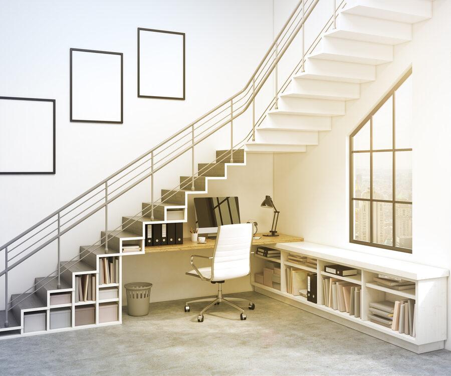 Idées innovantes pour optimiser l'espace sous l'escalier